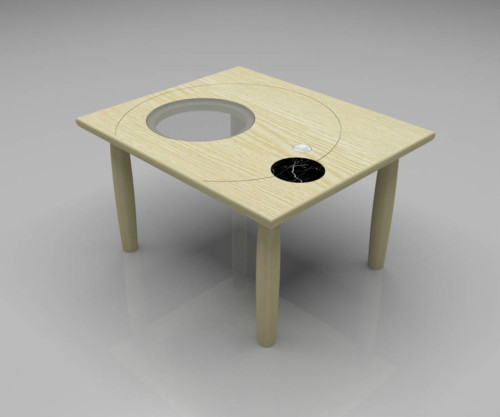 Coffee table in legno massello GALILEO SMALL