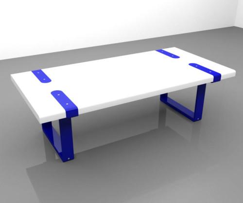 Coffee table in legno massello HINGES