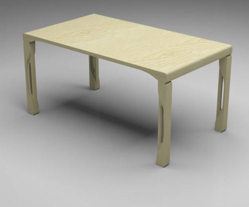 Tavolo rettangolare in legno massello modello VOLUTA